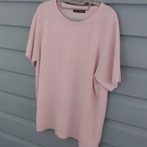 Pink shortsleeve sweater size large